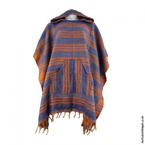 Rust-Soft-Acrylic-Hooded-Festival-Poncho