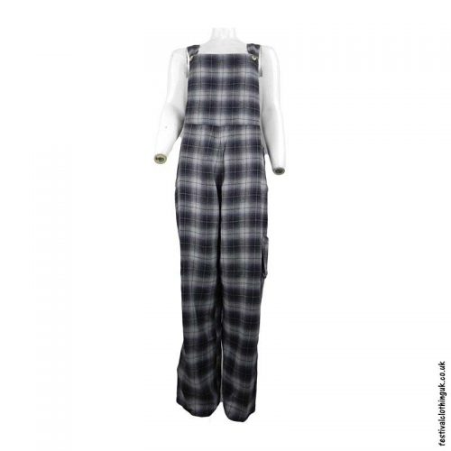Black-Cotton-Checkered-Festival-Dungarees