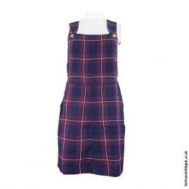 Blue-Short-Checkered-Cotton-Dungaree-Dress