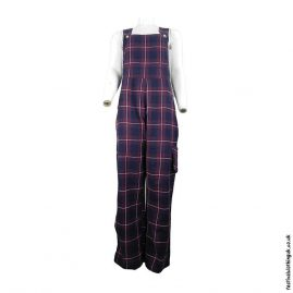 Blue-and-Red-Cotton-Checkered-Festival-Dungarees