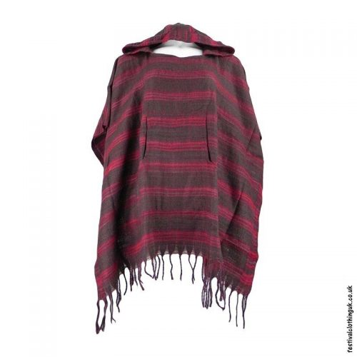 Brown-Acrylic-Striped-Festival-Poncho