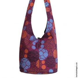 Funky-Pattern-Shoulder-Bag-Burgundy