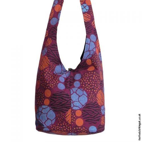 Funky-Pattern-Shoulder-Bag-Burgundy