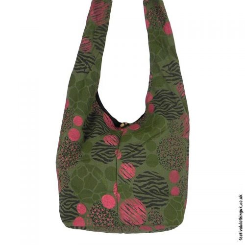 Funky-Pattern-Shoulder-Bag-Green
