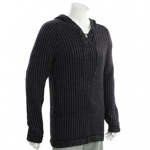 Hooded Alpaca Festival Wool Jumper