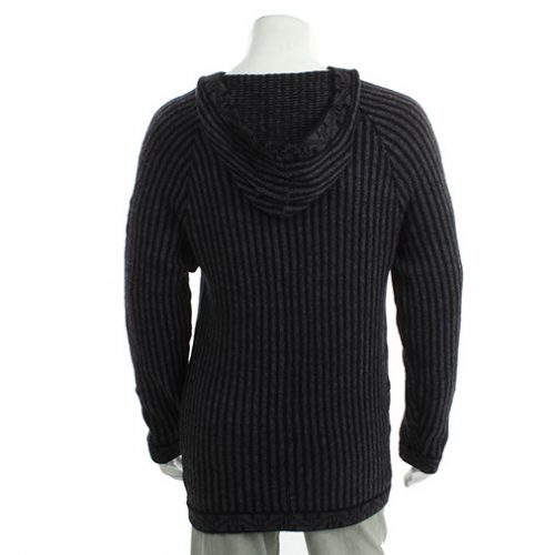 Hooded Alpaca Festival Wool Jumper Back