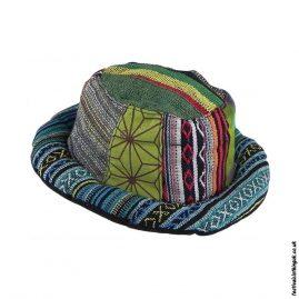 Multicoloured-Patchwork-Rimmed-Hemp-Hat