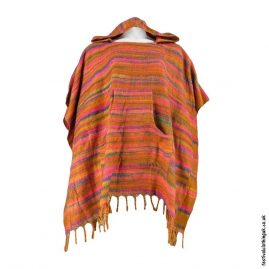 Orange-Acrylic-Striped-Festival-Poncho