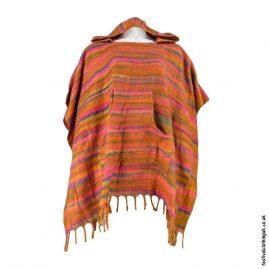 Orange-Acrylic-Striped-Festival-Poncho