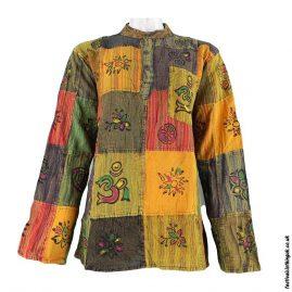 Patchwork-Collarless-Festival-Grandad-Shirt