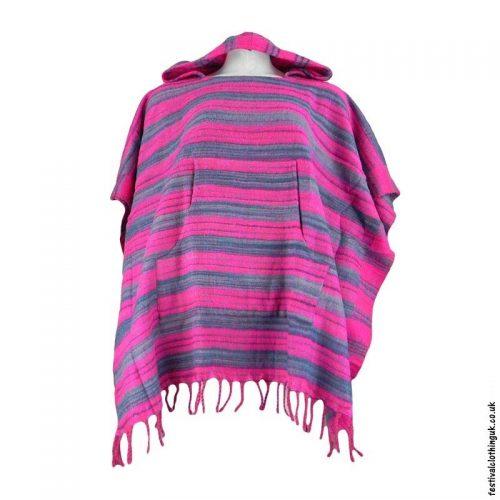 Pink-Acrylic-Striped-Festival-Poncho