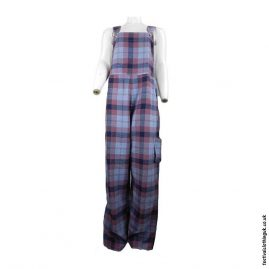 Pink-Blue-Cotton-Checkered-Festival-Dungarees