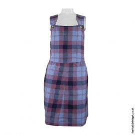 Pink-Short-Checkered-Cotton-Dungaree-Dress