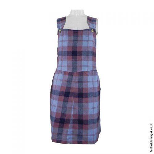 Pink-Short-Checkered-Cotton-Dungaree-Dress