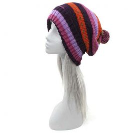 Purple-Festival-Wool-Bobble-Hat