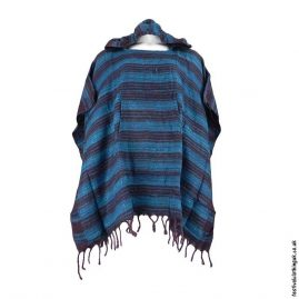 Teal-Acrylic-Striped-Festival-Poncho