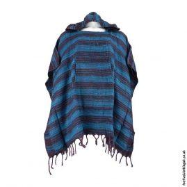 Teal-Acrylic-Striped-Festival-Poncho