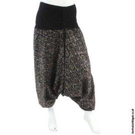 Black-Patterned-Harem-Ali-Baba-Pants