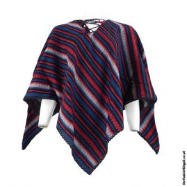 Multicoloured-Diamond-Acrylic-Festival-Poncho