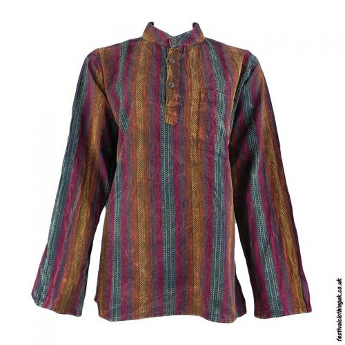 Multicoloured-Festival-Grandad-Shirt