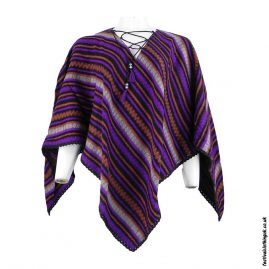 Purple-Diamond-Acrylic-Festival-Poncho