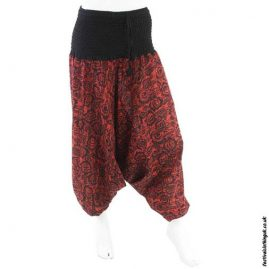 Red-Patterned-Harem-Ali-Baba-Pants