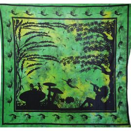 Green Tie Dye Fairy Throw