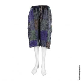 Long-Cotton-Patchwork-Festival-Shorts-Blue