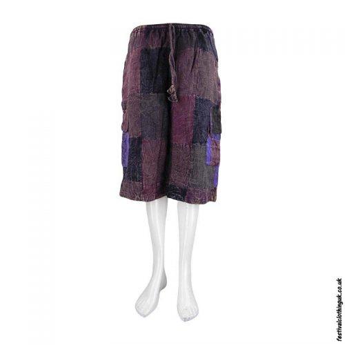 Long-Cotton-Patchwork-Festival-Shorts-Burgundy
