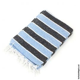 Mexican-Rug-Blanket-Throw-Blue