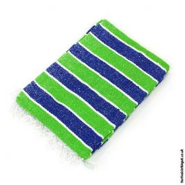 Mexican-Rug-Blanket-Throw-Green