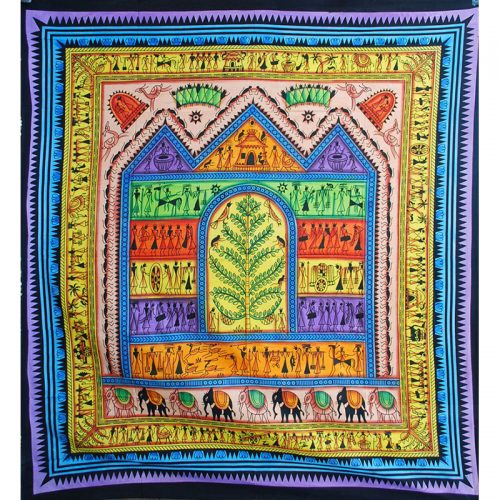 Multicoloured Arty House Throw 1