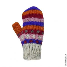 Multicoloured-Fleece-Lined-Mitten-Wool-Gloves-