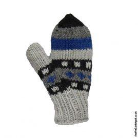 Multicoloured-Fleece-Lined-Mitten-Wool-Gloves-