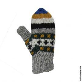 Multicoloured-Fleece-Lined-Mitten-Wool-Gloves