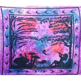 Purple Tie Dye Fairy Throw