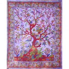 Purple Tree of Life Throw