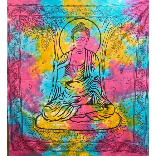 Tie Dye Buddha Throw