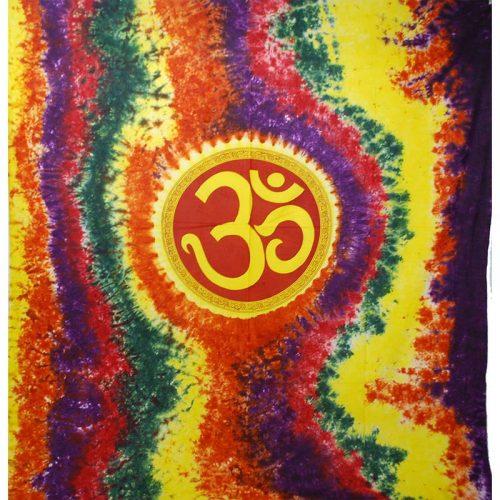 Tie Dye Om Symbol Throw