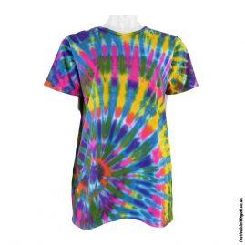 Tie-Dye-Short-Sleeve-Festival-T-Shirt--Multicoloured