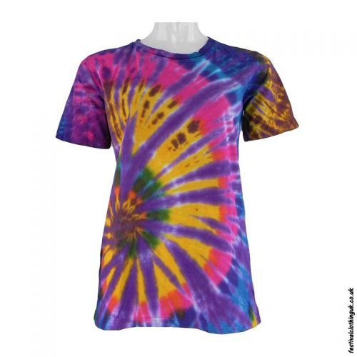 Tie-Dye-Short-Sleeve-Festival-T-Shirt--Multicoloured-j