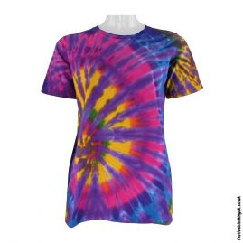 Tie-Dye-Short-Sleeve-Festival-T-Shirt--Multicoloured-m