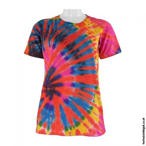 Tie-Dye-Short-Sleeve-Festival-T-Shirt--Multicoloured-o