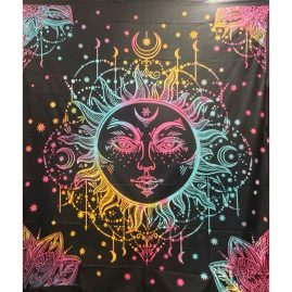 Tie Dye Sun and Moon Throw