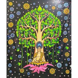 colourful-Buddha-tree-Throw
