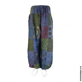 Blue-Patchwork-Harem-Festival-Pants