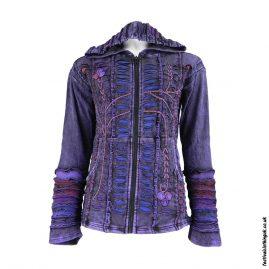 Embroidery-Hooded-Festival-Jacket-Purple