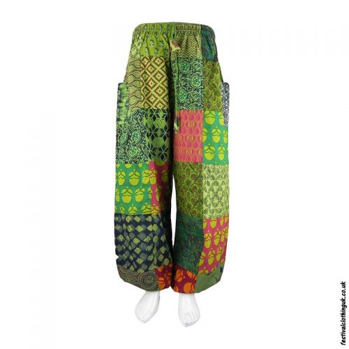 Green-Patchwork-Harem-Festival-Pants