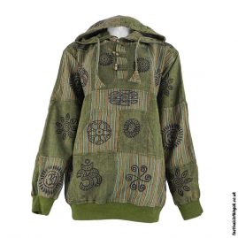 Hooded-Patchwork-Festival-Top-Green
