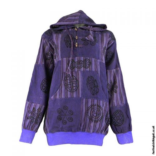 Hooded-Patchwork-Festival-Top-Purple